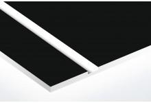 negru mat/alb 1.6 mm