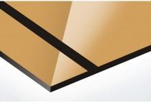 Auriu oglinda/negru 1.6 mm