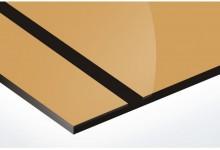 auriu lucios/negru 1.6 mm