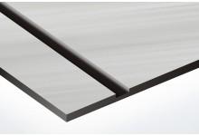 argintiu mat cu striatii/negru 1.6 mm